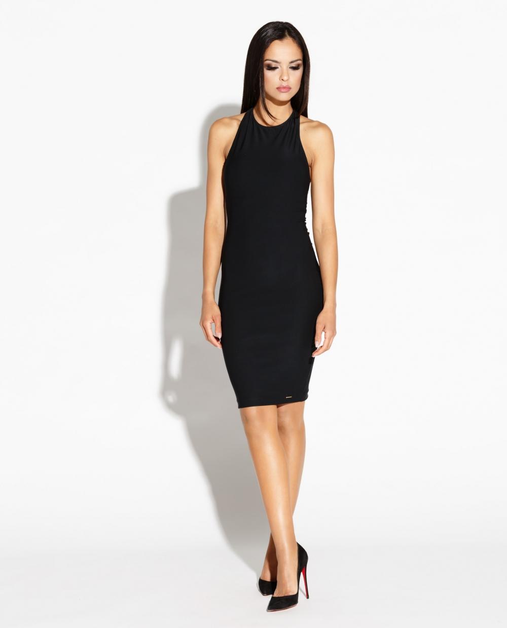 Šaty Dursi s holými zády černé