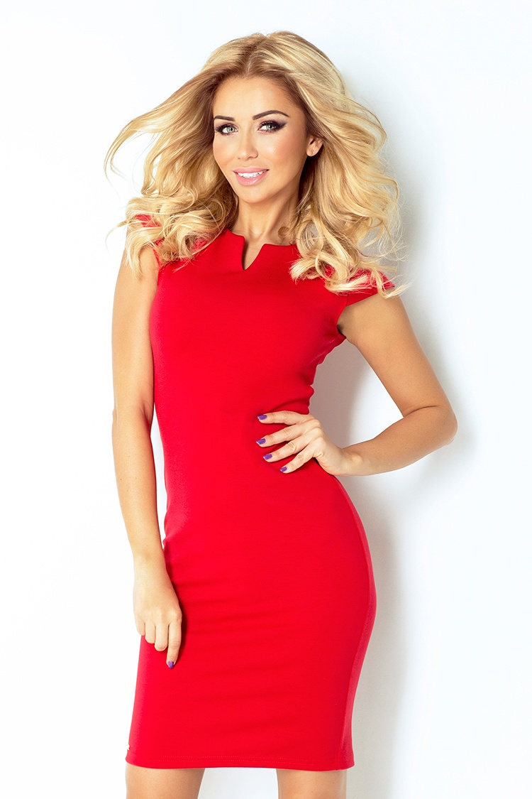 NUMOCO 132-2 elegantní šaty STELA červené e9d01efc3b