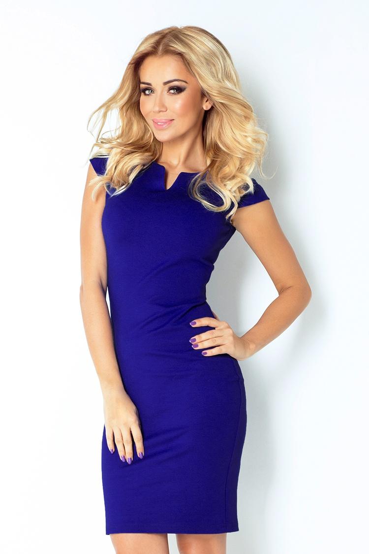 0053ed5e10c3 NUMOCO 132-1 elegantní šaty STELA modré XL