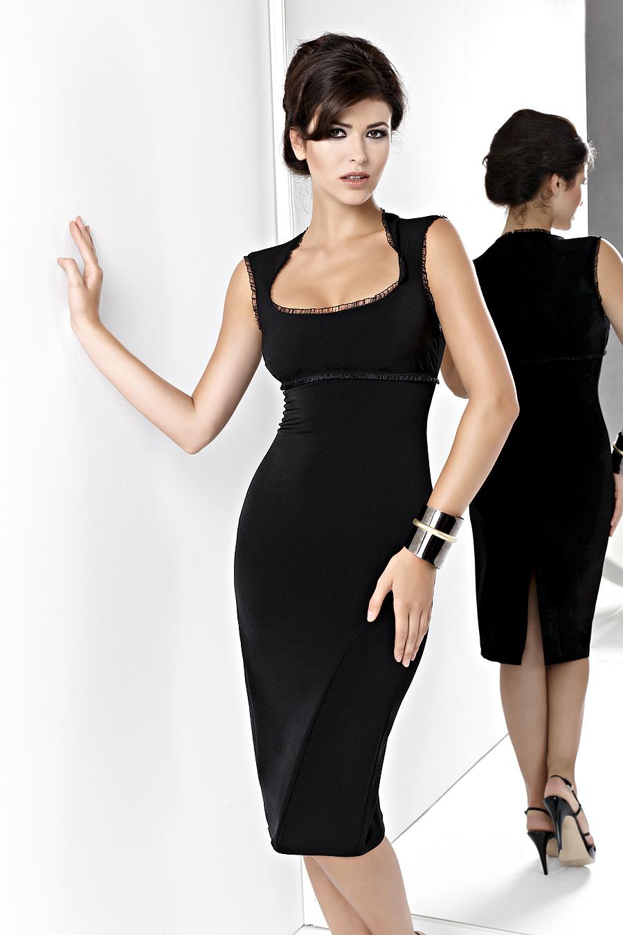 KARTES KM 13 společenské elegantní šaty černé  16a968f7f8