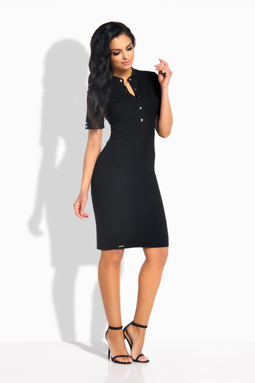 LEMONIADE L191 černé bavlněné šaty (L191)