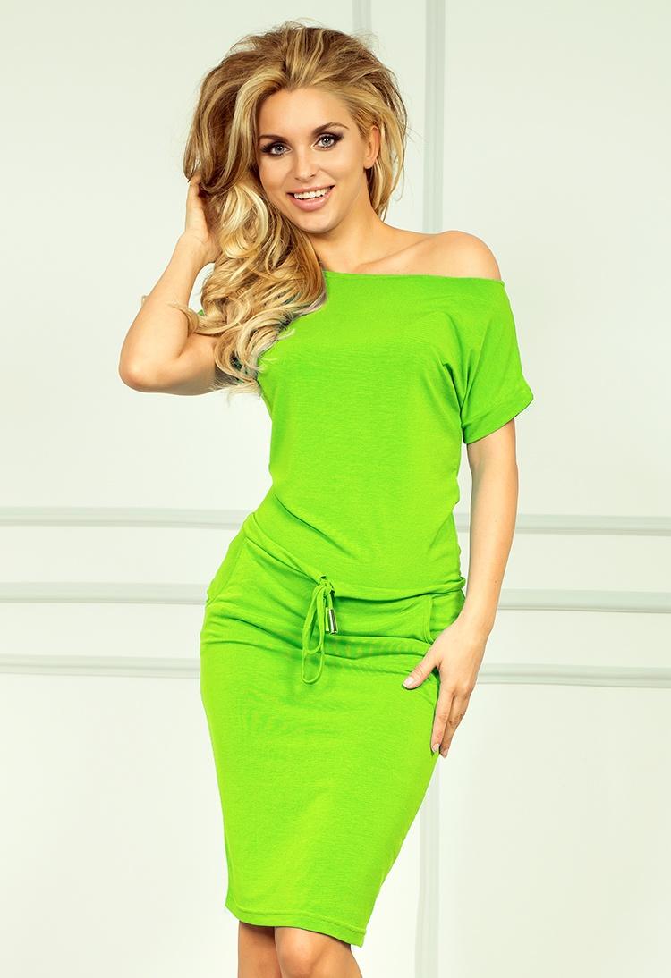 NUMOCO 56-4 sportovní šaty světlá neonově zelená XL  c0a1555233