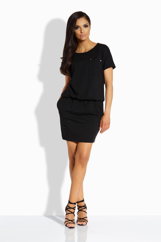 Bavlněné šaty Lemoniade L201 černé