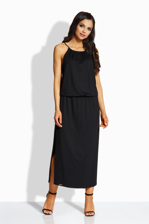 Dlouhé letní šaty LEMONIADE L213-3 černé