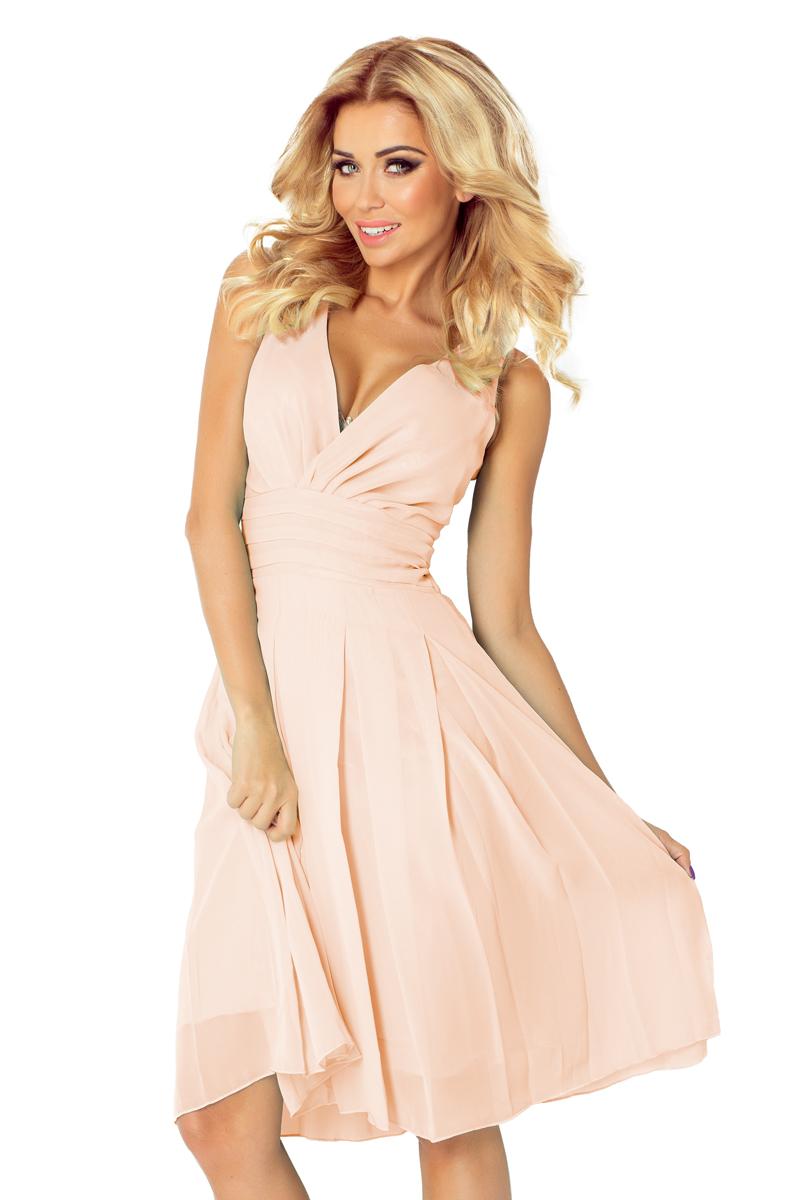 Dámské šaty NUMOCO 35-11 pudrově růžové