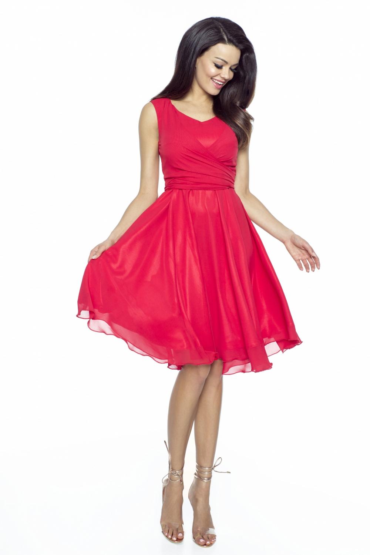 Koktejlové šaty KARTES KM227-1 červené
