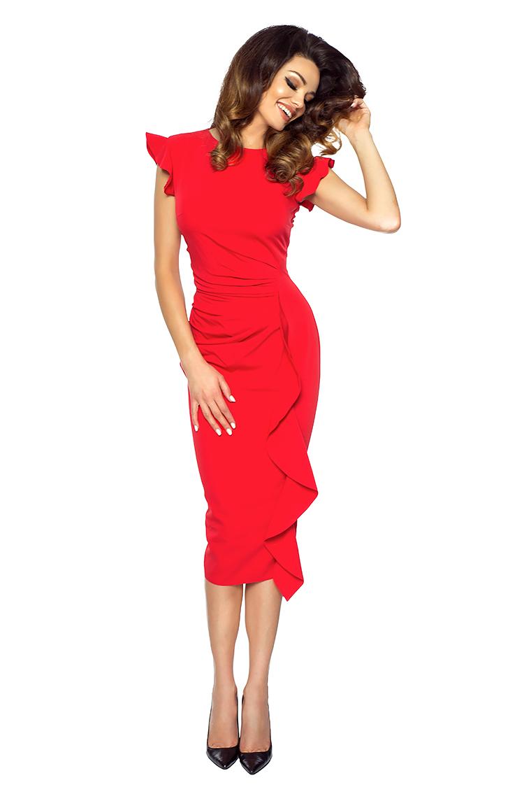 Slavnostní šaty KARTES KM66-1 červená
