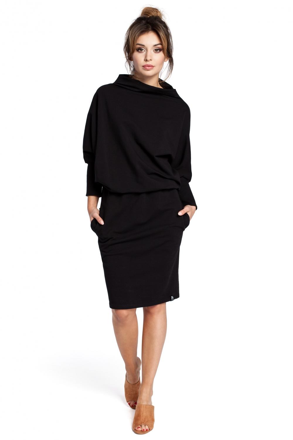 PRESTIGE praktické šaty B032-1 černé