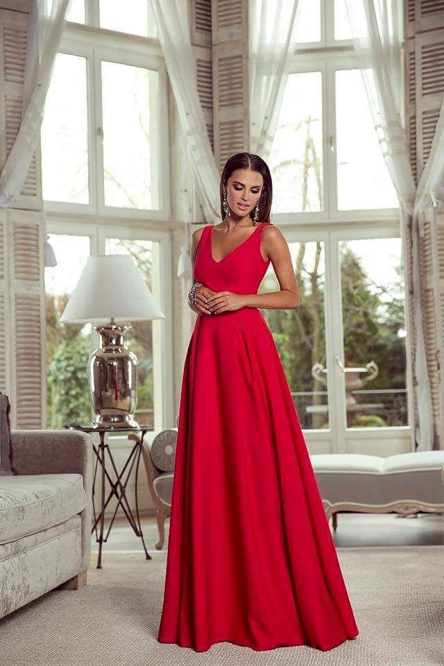 Dlouhé šaty Emma červené