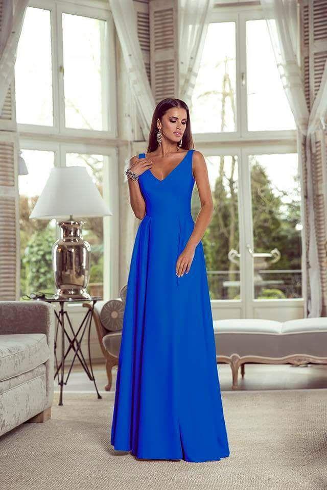 Dlouhé šaty Emma modré