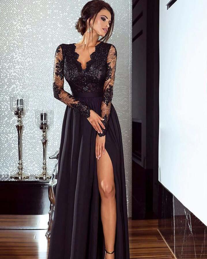 4a73b21d712 Elegantní šaty Leila černé