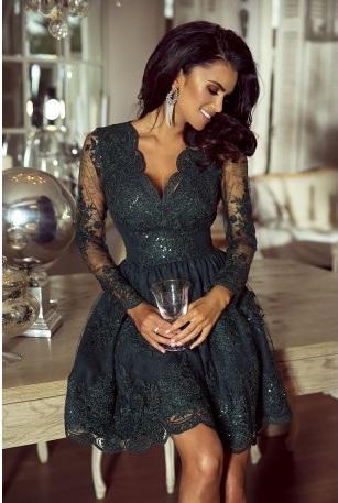 a67abb5e31d2 Krátké krajkové šaty Amelie khaki
