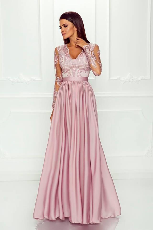 Elegantní šaty Leila růžové