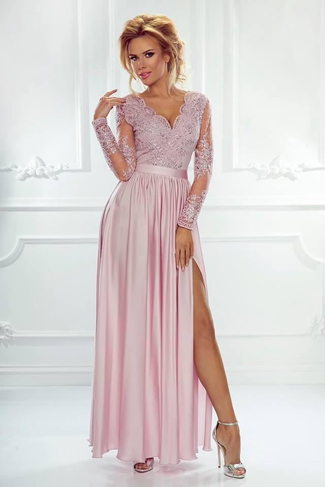 94e738afb Elegantní šaty Leila růžové   Bella Boutique - móda pro opravdové dámy