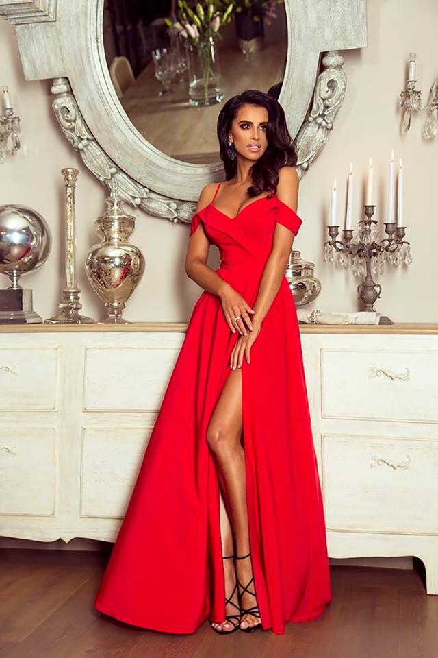 Dlouhé šaty Elizabeth červené