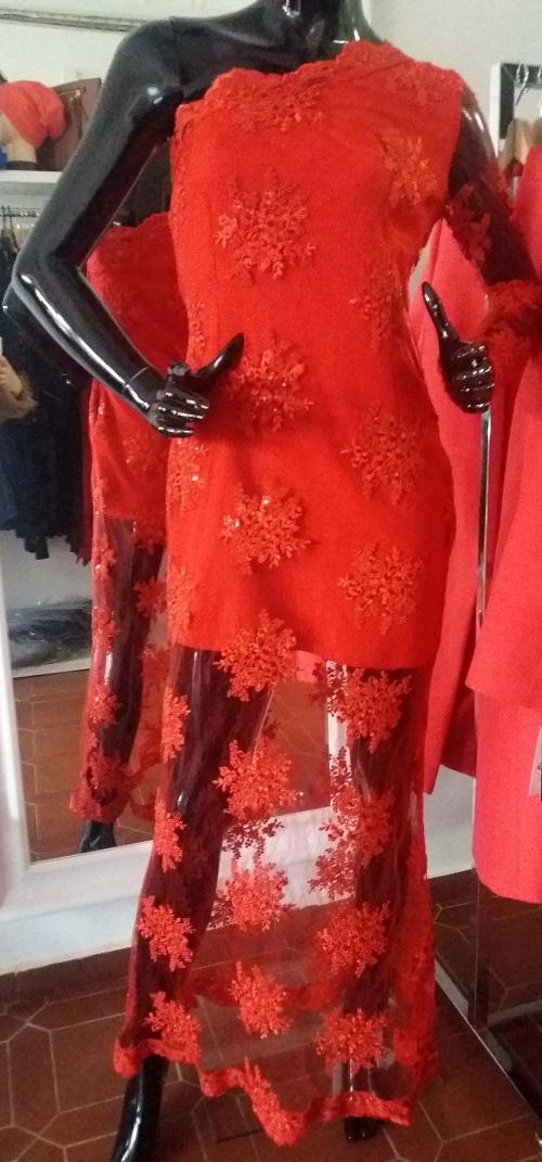 Dlouhé šaty Maia maxi červené