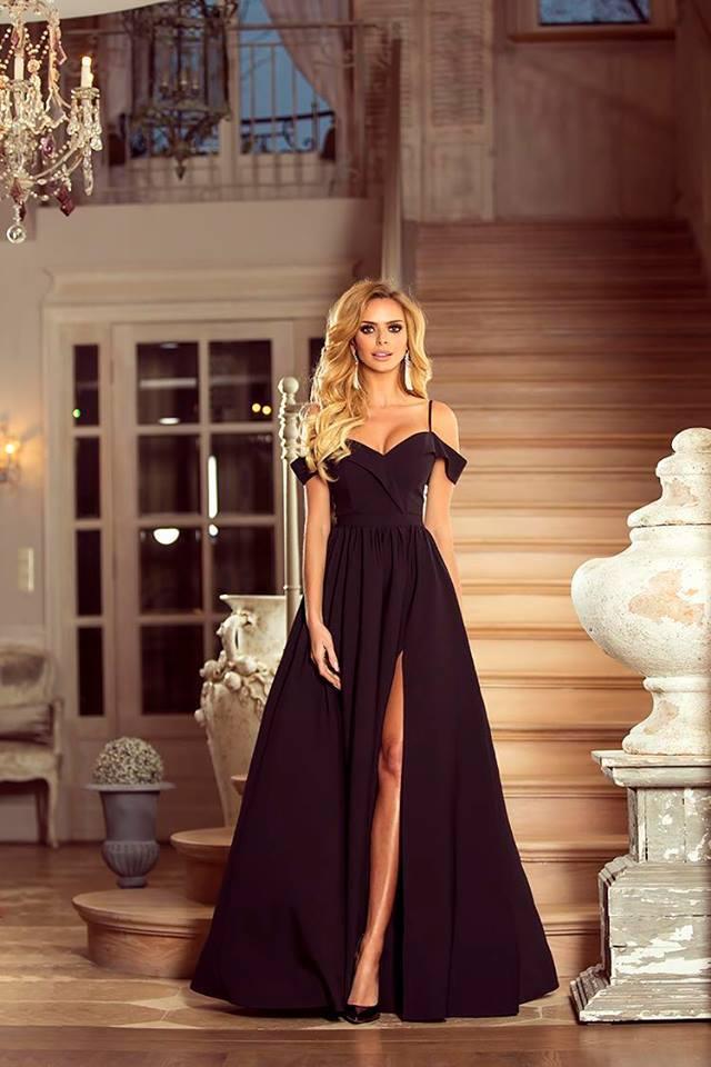 Dlouhé šaty Elizabeth černé