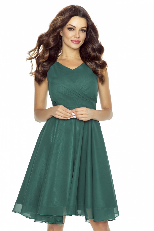 Koktejlové šaty KARTES KM227-5 lahvově zelené  854590987a4
