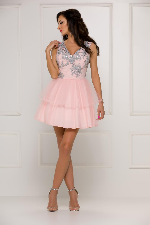 Krajkové šaty Gracie růžové  d727aa9708