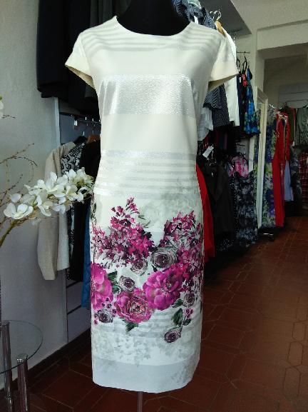 df0ede1a66b2 Dámské společenské šaty pro plnoštíhlé 3211 béžové