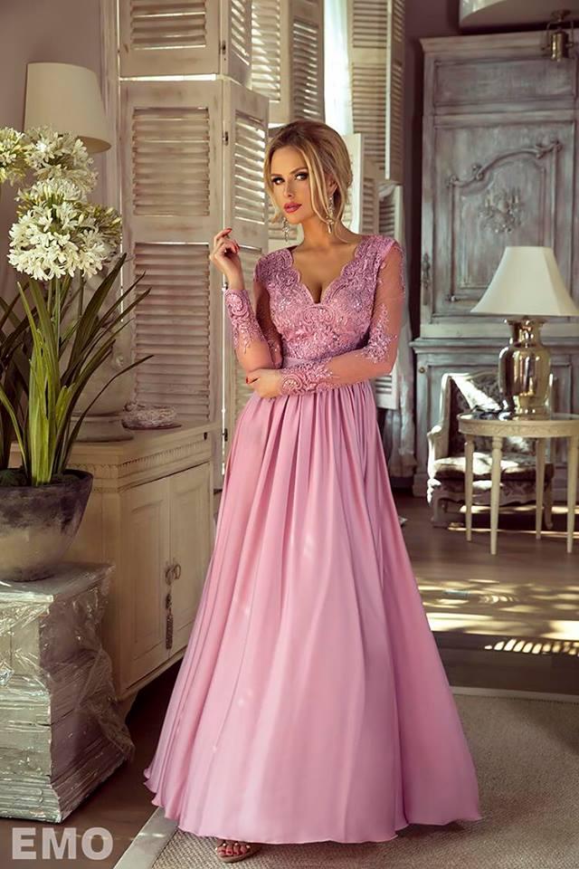 a3825c9e397 Dámské večerní šaty Leila světle růžové