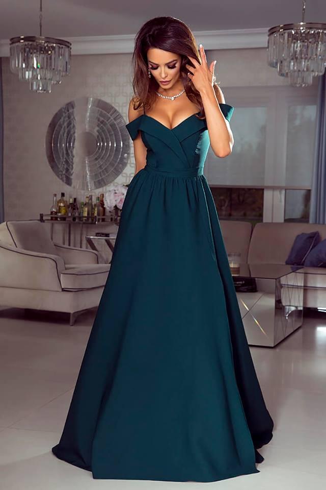 863f2079e6b8 Dlouhé šaty Elizabeth zelené