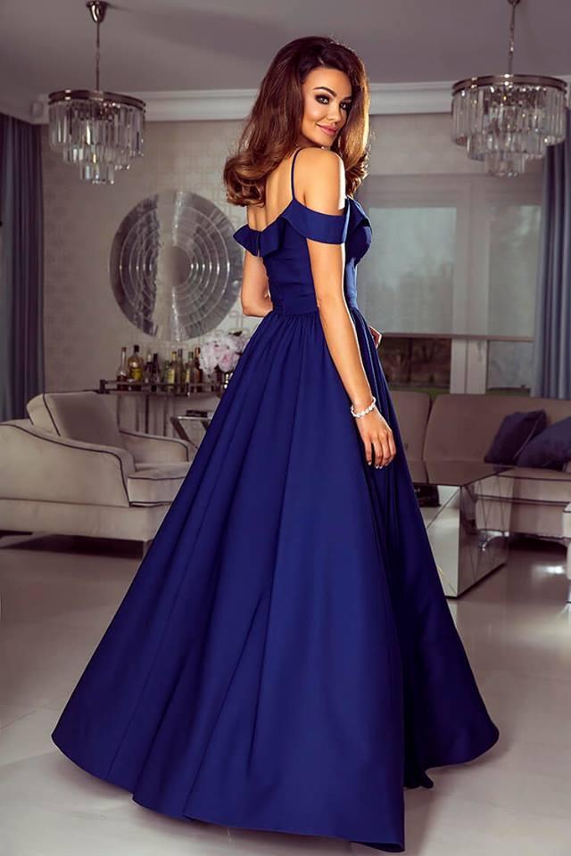 Dlouhé šaty Elizabeth tmavě modré  c3d41e7c03