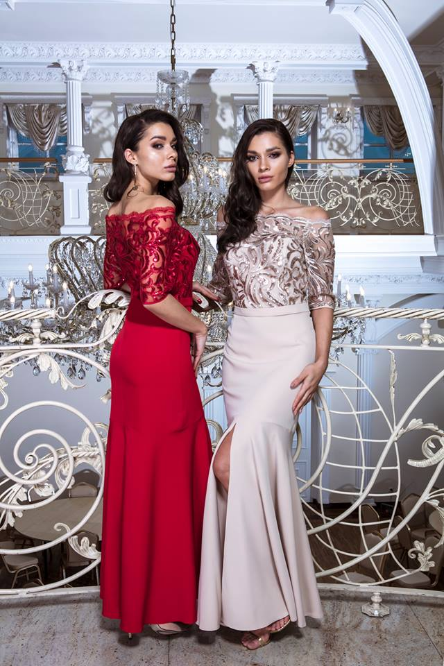 2375e6ff8564 Luxusní společenské šaty Viky béžové