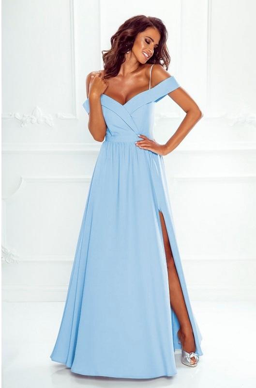 a7f44455f817 Dlouhé šaty Elizabeth baby blue-světle modré