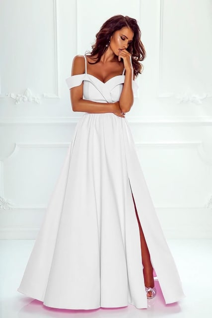 Dlouhé šaty Elizabeth bílé  de1828f1da