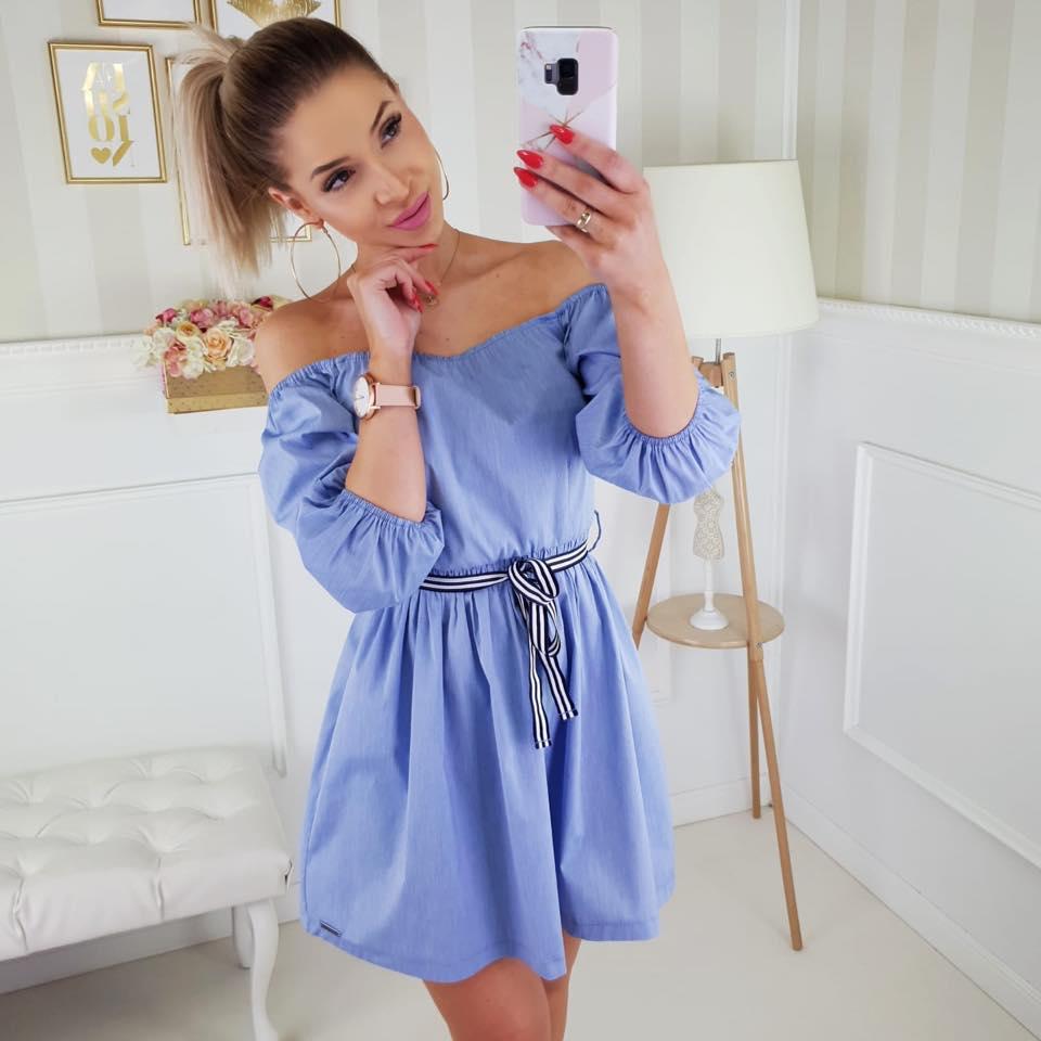 8c5cc45bcc1c Krátké letní šaty Caramella modré
