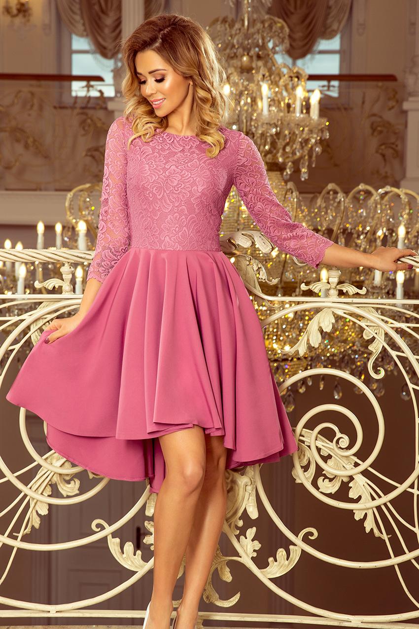 e0d21cf73887 Dámské šaty s 3 4 rukávem Olivia 231-2 barva lila