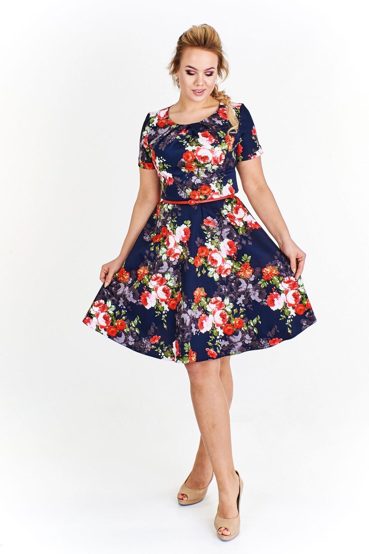 Květinové šaty Milano s krátkým rukávem empty 3bf03bb3c4