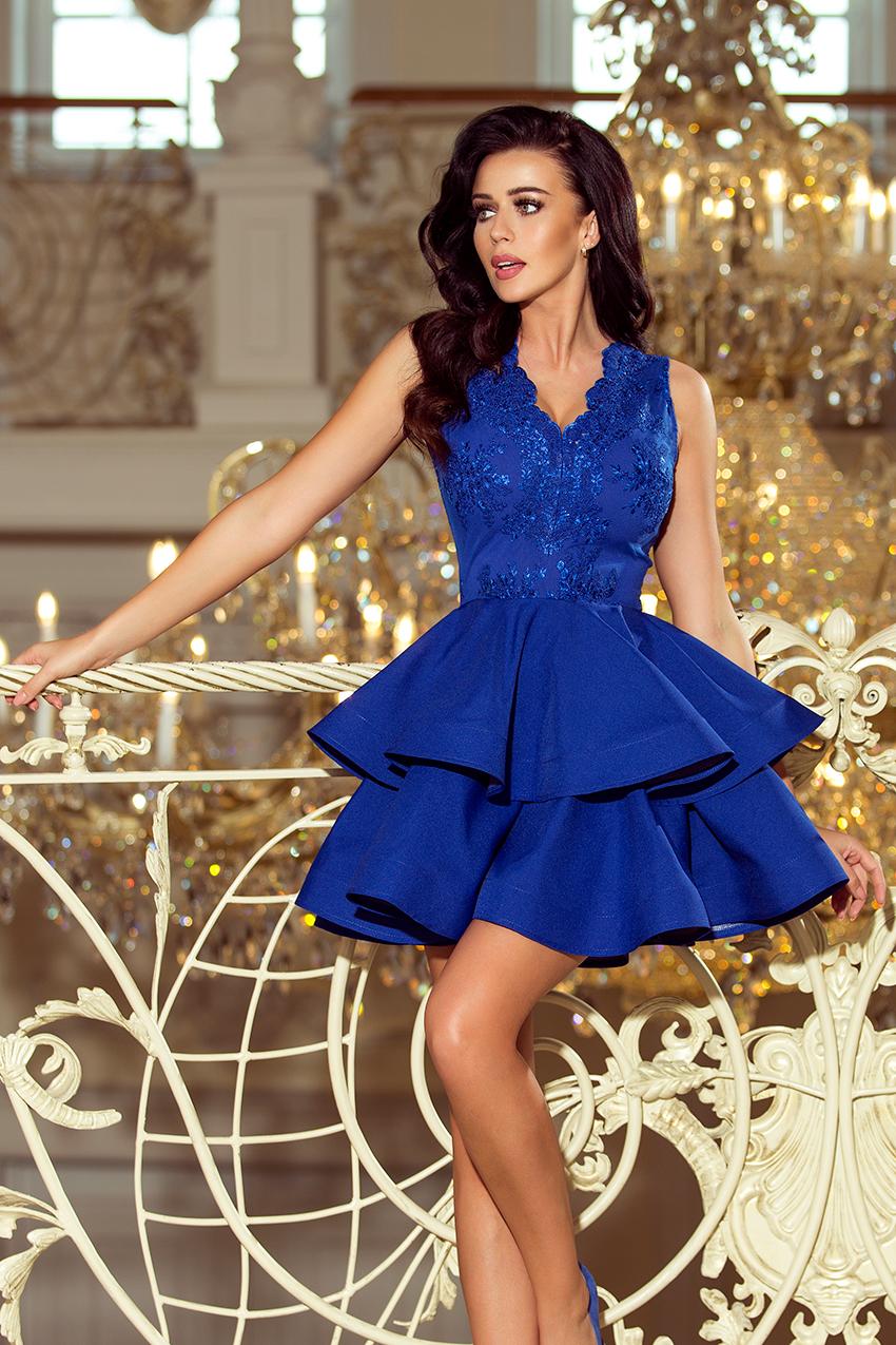Exkluzivní dámské šaty Numoco 200-7 modré empty 3c438bb935b