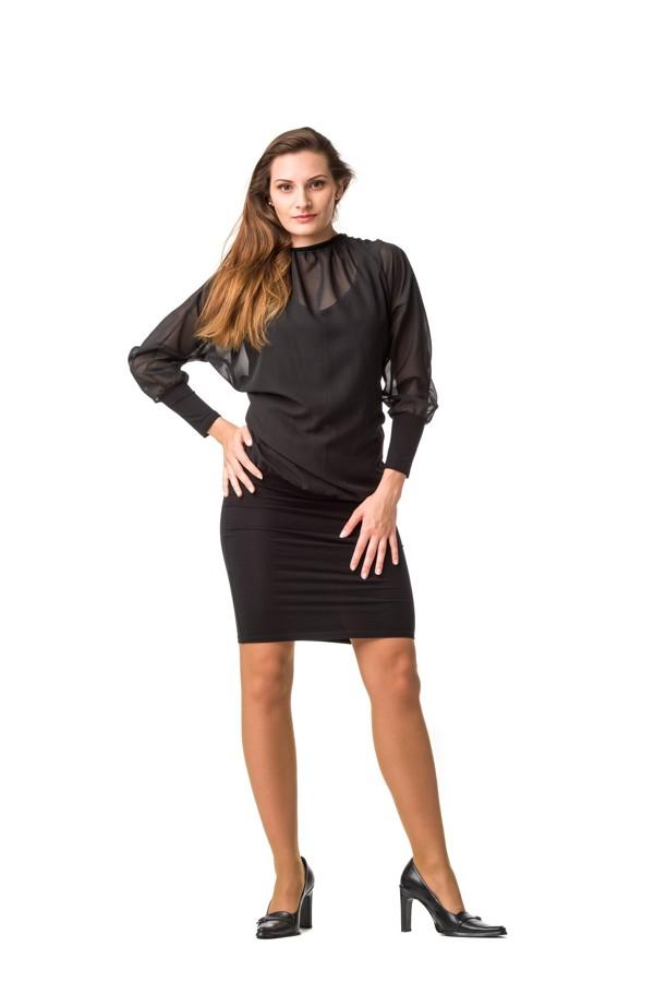 eb4754c9d45d Dámské šaty dlouhý rukáv Fashion MAM černé empty