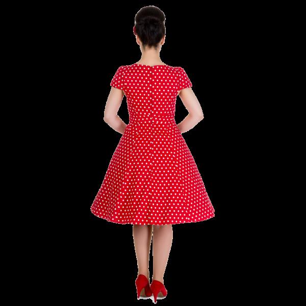 010a32aa4 Dolly and Dotty retro šaty Claudia červené s puntíky   Bella ...
