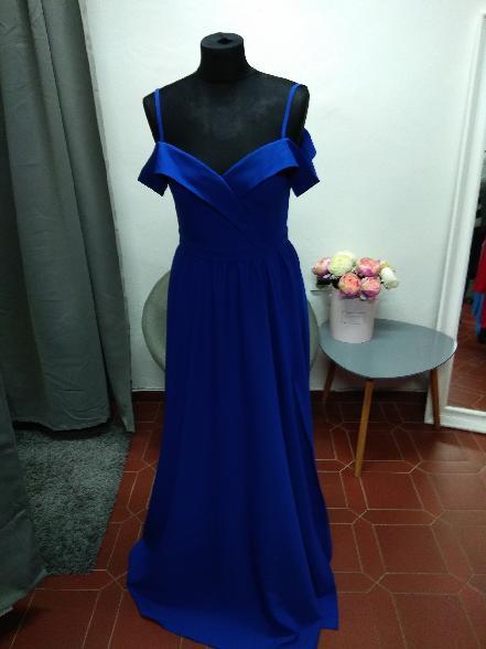 Dlouhé šaty Elizabeth modré  91277cdf7d