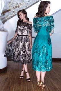 900d12338ab4 Luxusní krajkové šaty Margot černobéžové empty