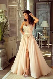 fd921bb5321 Dlouhé krajkové šaty Bella smetanová empty