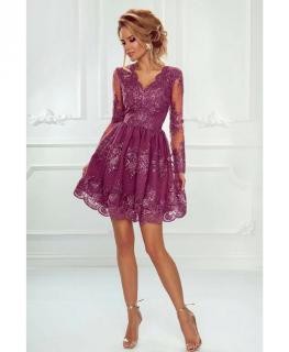 Krátké krajkové šaty Amelie fialové (tmavá starorůžová) empty 7ce9607171