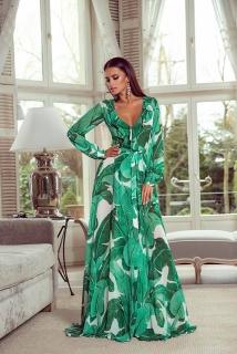 2a27bd2f47d Dlouhé šaty Selena zelené empty