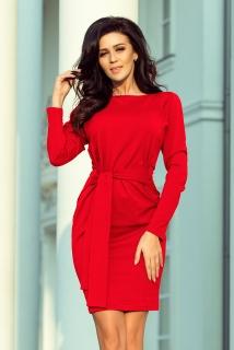 88df07a42e8a Dámské šaty s páskem Numoco 209-6 červené empty