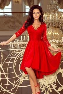 6242fd3c8ffb Dámské šaty s 3 4 rukávem Nicolle 210-6 červené empty