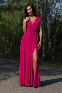 dabad4179d62 Dlouhé šaty s rozparkem Salma malinové empty