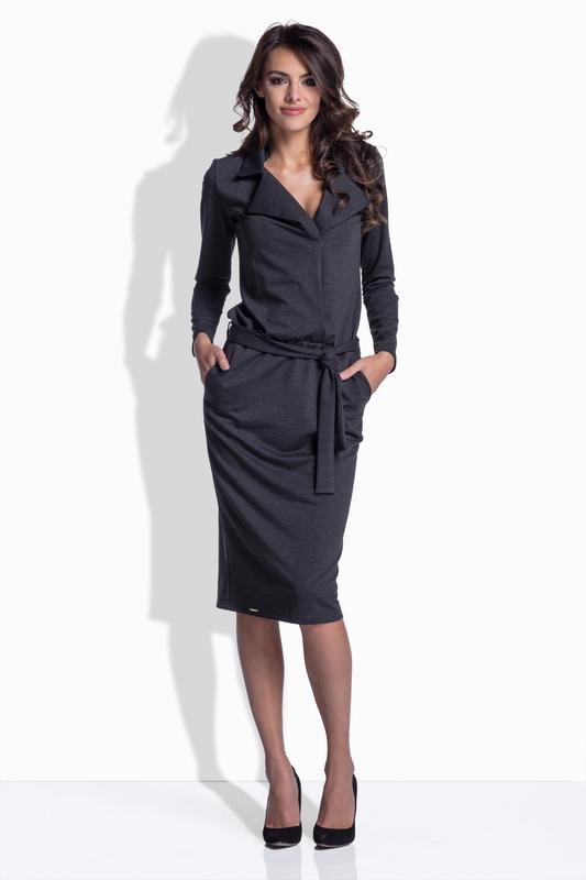Šaty LEMONIADE L161 tmavě šedá