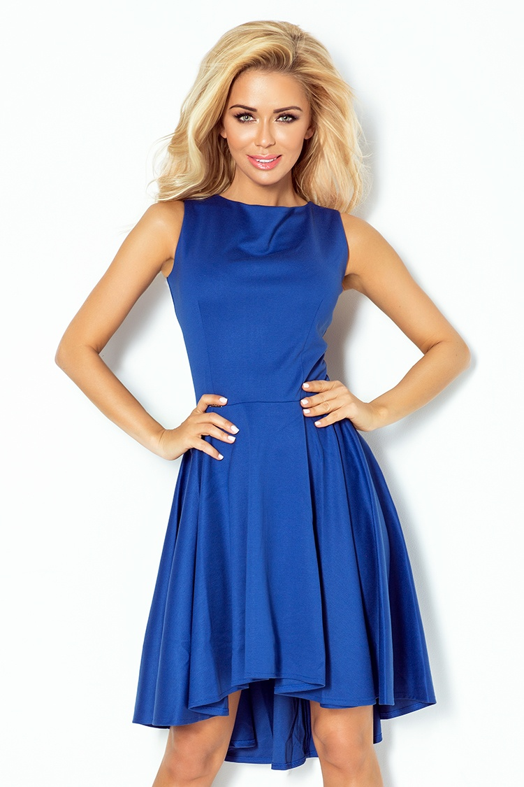 Luxusní společenské a plesové šaty Numoco modré