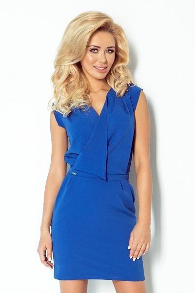 Dámské moderní šaty Numoco královská modrá