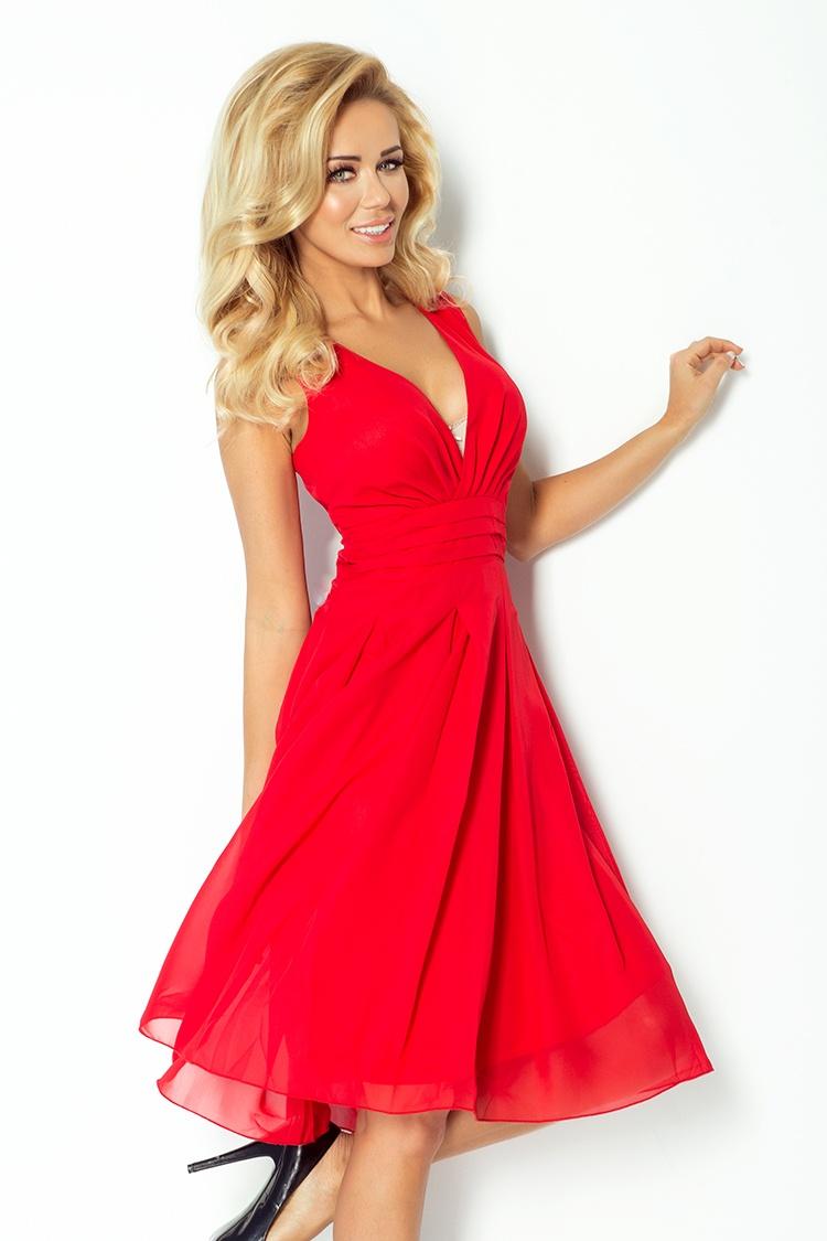 Šaty Numoco šifónové červené