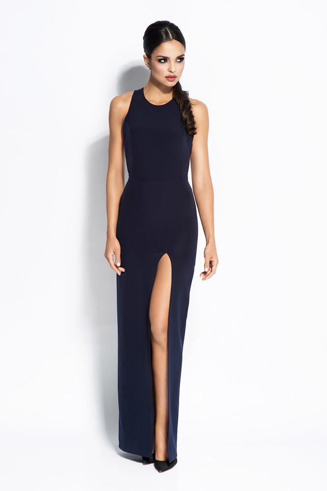 Dlouhé šaty Dursi Giselle modré