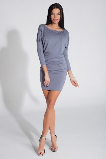 Šaty casual Fobya šedé